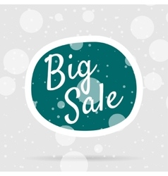 Christmas big sale bubble on snow background vector