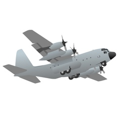 Military transport cargo aircraft vector