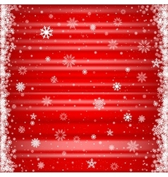 The red snowy background vector