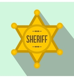 Sheriff star flat icon vector