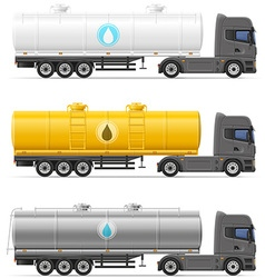 Truck semi trailer 10 vector