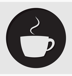 Information icon - cup with smoke vector