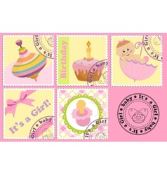 Babys postage marks and stamps vector