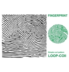 Black fingerprint shape secure identification id vector