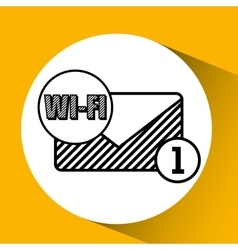 Wifi technology app vector