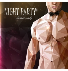 a caucasian or asian man nude fit body with bow vector image vector image
