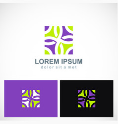 abstract decorative colored square logo vector image vector image