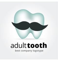 Abstract tooth character logotype concept isolated vector image