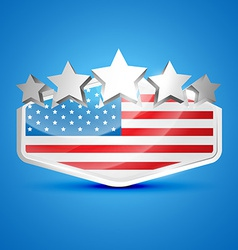 American flag label vector