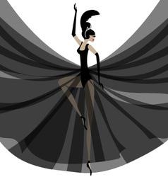 Ballerina in black vector
