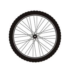 Bike wheel tire vector