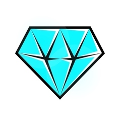 Bright diamond icon vector