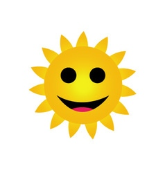 Bright yellow sun smiling vector