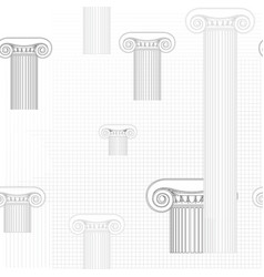 classic columns seamless background roman vector image