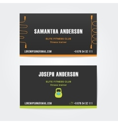 design business cards for fitness vector image vector image