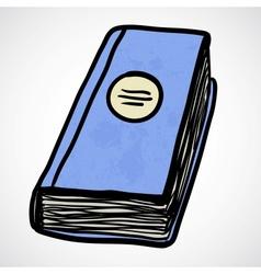 Doodle sketch of book vector
