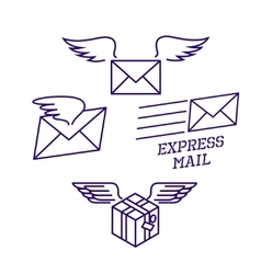 Fast delivery service vector image