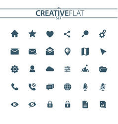 flat user unterface icons vector image vector image