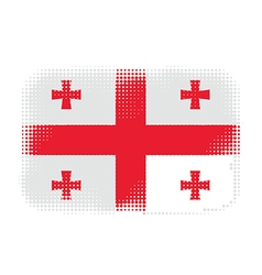 georgia flag halftone vector image vector image