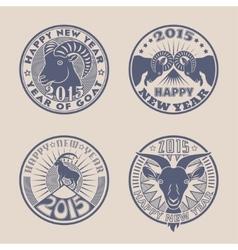 Goat badges vector