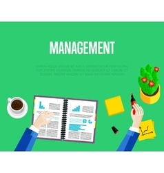 Management template top view workspace background vector