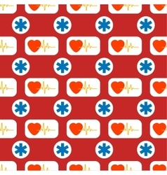 Medical and healthy conceptual seamless pattern vector