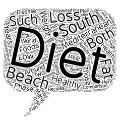 Mediterranean diet and the south beach diet a vector