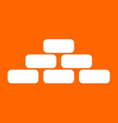 Pyramid white icon vector