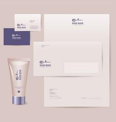 rose logo cosmetics brand corporate identity vector image