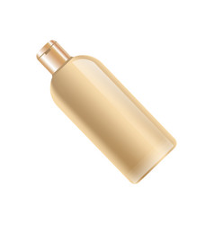 Shampoo bottle in beige color without label vector