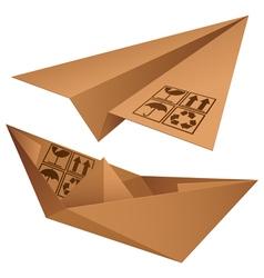 shipping symbols vector image