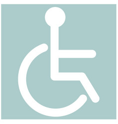Sign of the disabled the white color icon vector