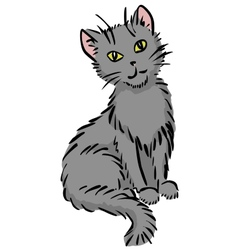 sitting cat vector image vector image