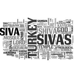 Sivas word cloud concept vector