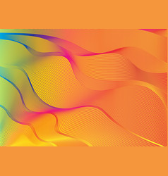 Spectrum colour outlines blending vector