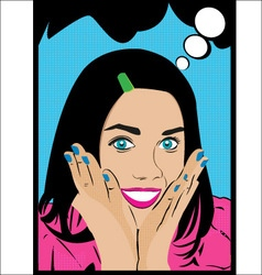 The girl in style pop art vector image vector image