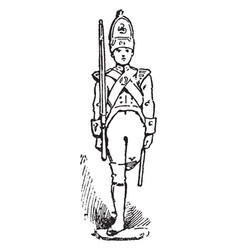 Tin soldier vintage vector