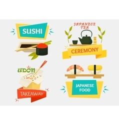 Uramaki sushi with wasabi makizushi sticks vector
