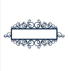 Vintage frame scroll vector image