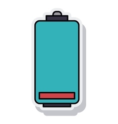 Battery power isolated icon vector