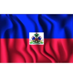 Flag of haiti rectangular shaped vector