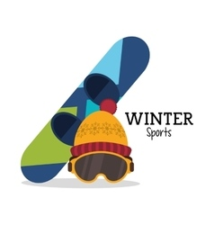 Snowboard and winter sport design vector