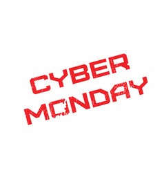 cyber monday rubber stamp vector image