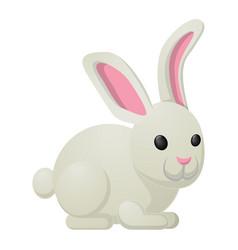 White rabbit bunny sweetness holiday mascot vector