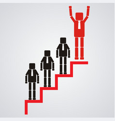 Leadership and teamwork concept the business vector