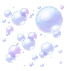Blue bubbles background image vector