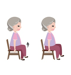 Seated march posture exercise vector