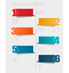 Info graphics banners with numbers and letters vector image