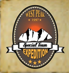 West peak badge vintage vector