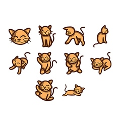 Cat icon set vector